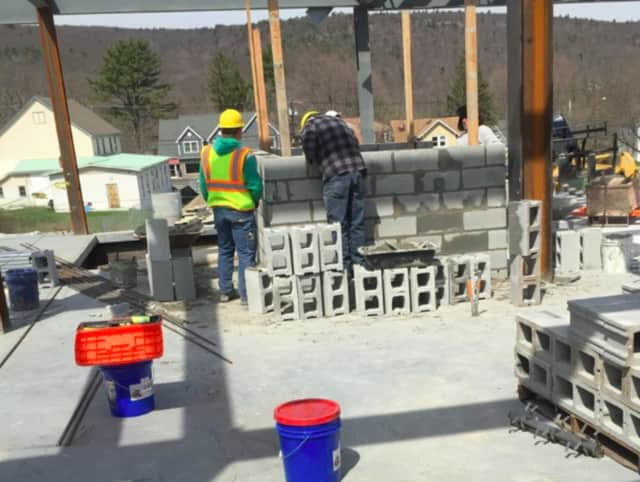 Work on the West Milford Library is underway.