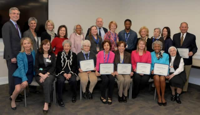 White Plains Hospital honored volunteers for their service in a ceremony on Wednesday.