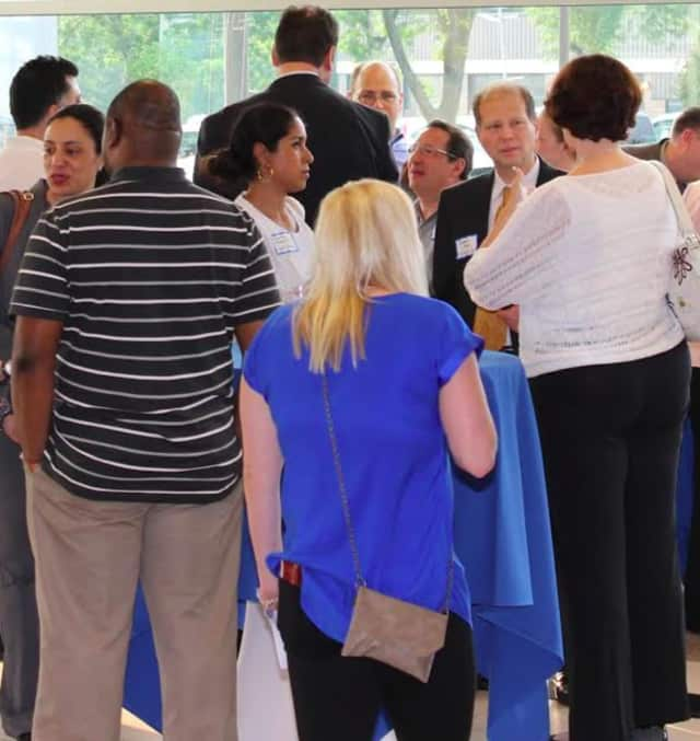 Business professionals met at the Rockland Business Association's morning mingle.
