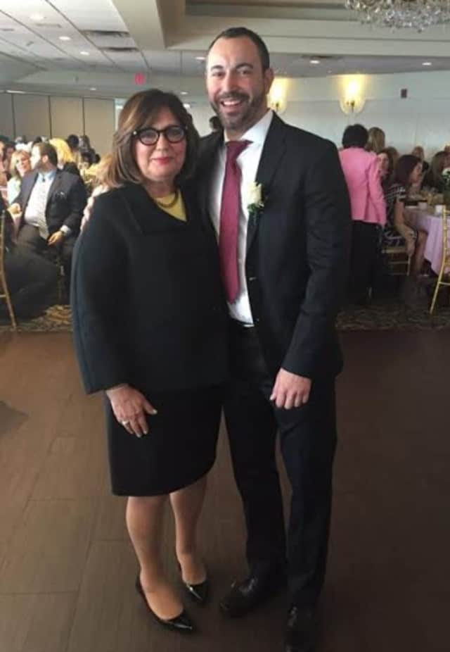 Toni Amato and Frank Portanova were honored by Archbishop Stepinac High School for their involvement in the school.