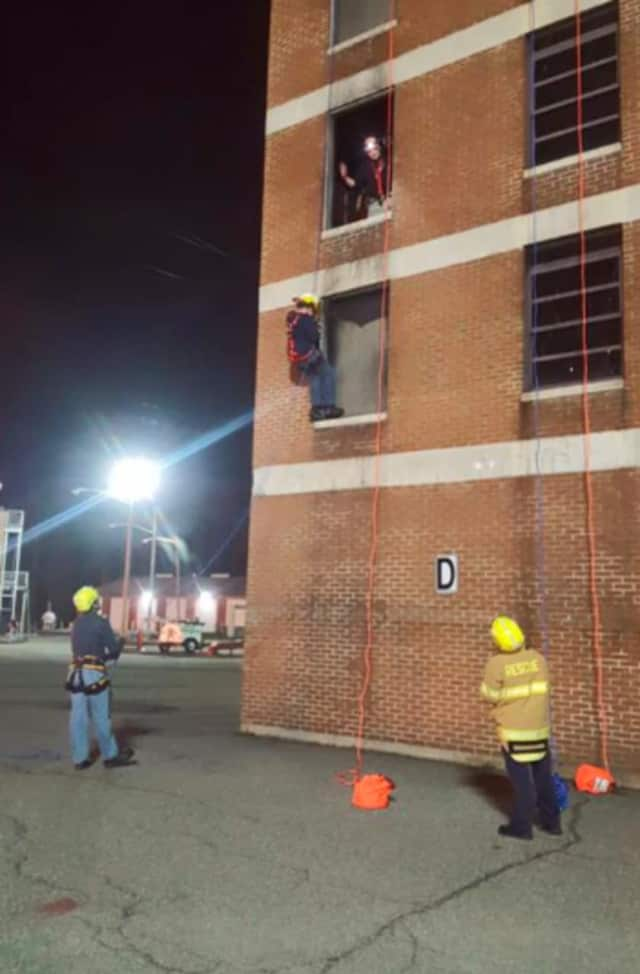 Ramsey Rescue's newest members rappelled for the first time.