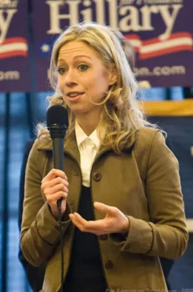 Chelsea Clinton campaigned for her mother, Democratic presidential candidate Hillary Clinton, in Poughkeepsie on Monday.