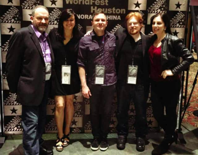 (left to right) producer and cast member Chris Ryan; writer, cast member and business director Kate McGrath; vice president and music director Nick DeMatteo; president David LaRosa; and treasurer and social outreach coordinator Janine Laino