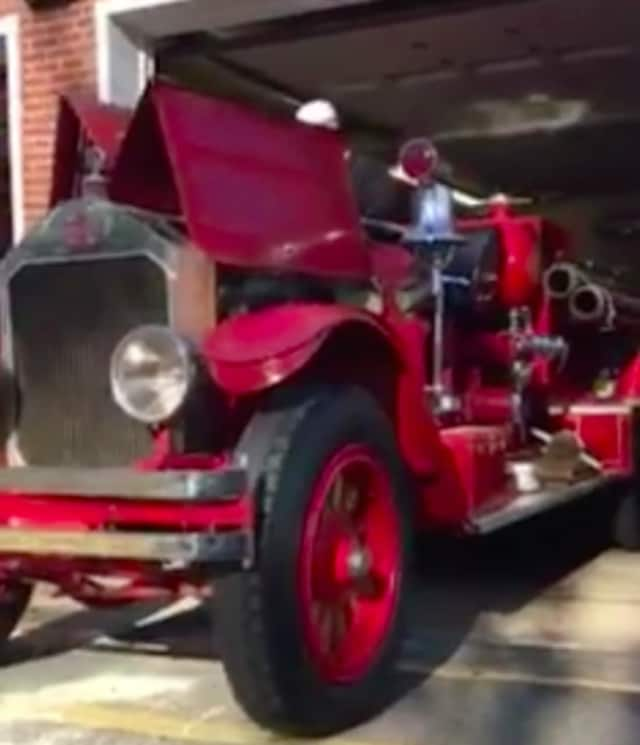 The Oradell Volunteer Fire Department started up its 1928 pumper recently.