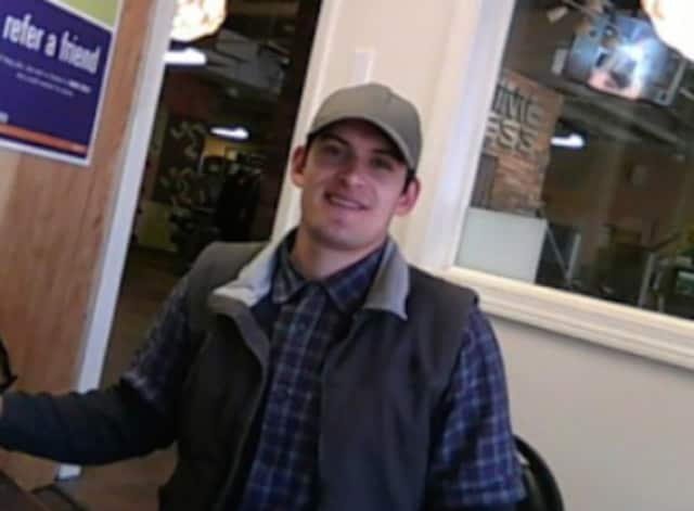 Fairfield Police are looking for this man in connection with a theft at Anytime Fitness on Black Rock Turnpike.