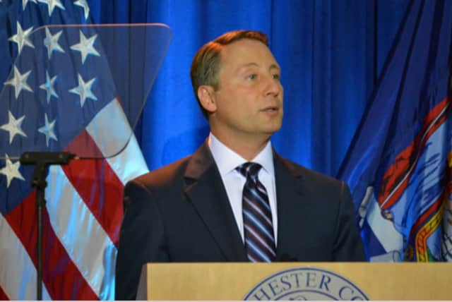 Rob Astorino delivers Thursday's State of County Speech in the Central Jury Room of the Westhester County Courthouse.