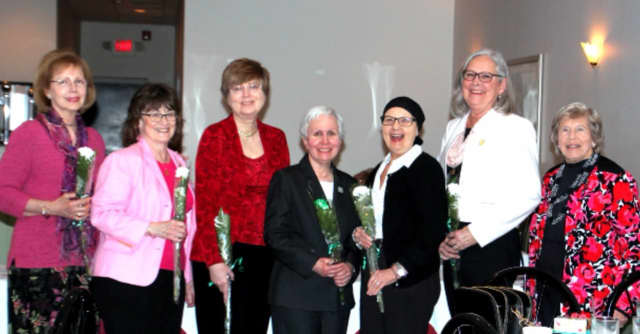 The Book and Needle Woman's Club of Oradell recently named its officers for 2016-17. Pictured (left to right) are Hermine Zimmermann, Susan Chambers, Carol Winkler, Sally Moore-Ng, Bruna Dietz, Katherine Norian and Jan Atwater.