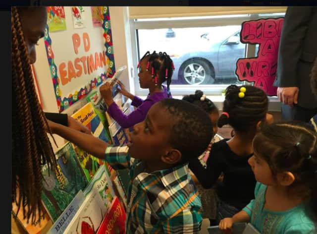 Recently, the Rotary Club of Bridgeport and Trumbull Rotarians purchased and delivered the books needed to create libraries in seven classrooms at ABCD, a learning center based in Bridgeport.