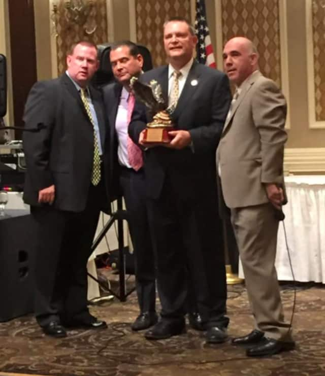 """Sheriff Richard H. Berdnik was honored by Passaic County PBA Local #14 as """"Man Of The Year"""""""