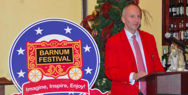 Jason Julian is the 2016 Barnum Festival ringmaster. The Whip, Whistle & Watch Luncheon honoring the 2016 Barnum Festival Ringmaster Jason Julian will be Friday, May 20, at noon at the Holiday Inn & Conference Center, 1070 Main St., Bridgeport.