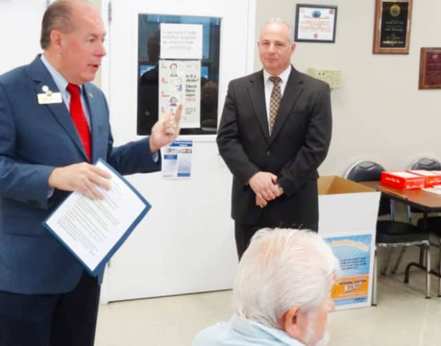 Bergen County Clerk John Hogan visited the Senior Center in Saddle Brook.