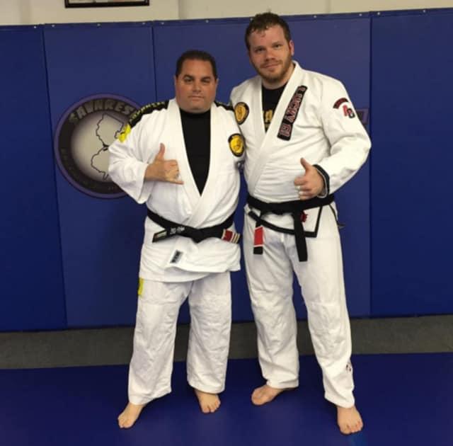 Chris Savarese, left, with Sean Bermudez.
