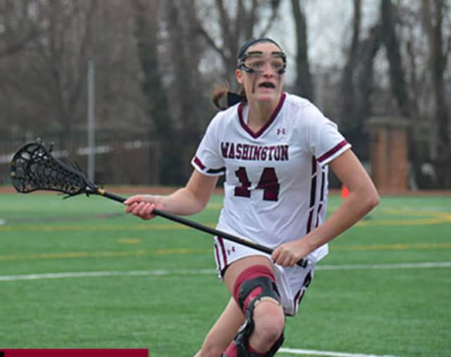 Washington College Junior attacker Katherine Vincent of Wilton garnered conference offensive player of the week.