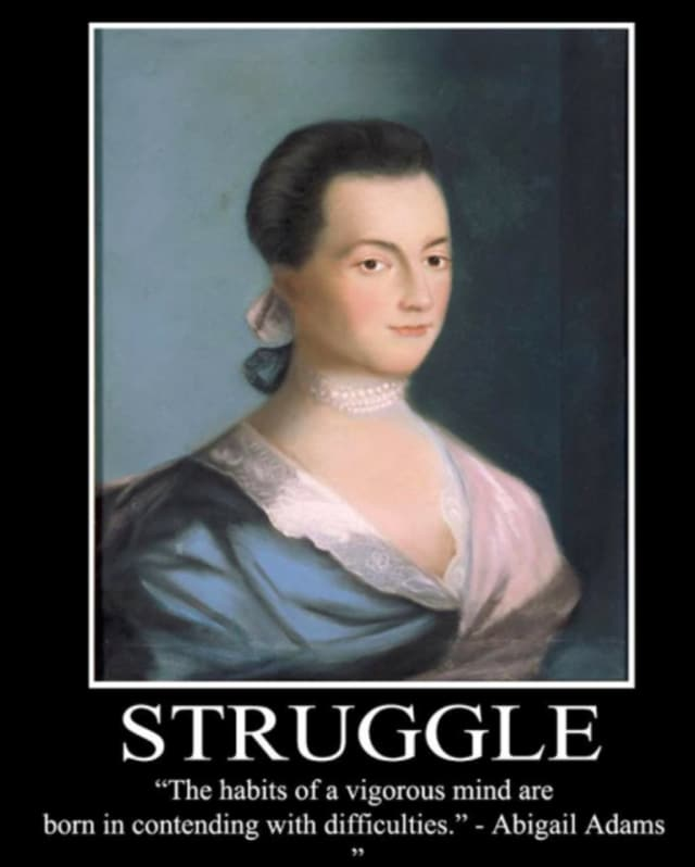 """Abigail Adams, future First Lady and mother of the sixth President. The Newtown Historical Society, in conjunction with the C H Booth Library, will offer the free program """"Tea with Abigail Adams,"""" on May 9."""