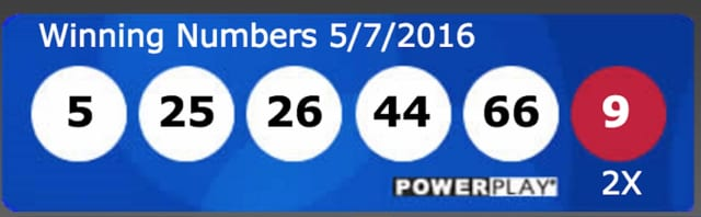 The winning numbers in the $429 million Powerball drawing.
