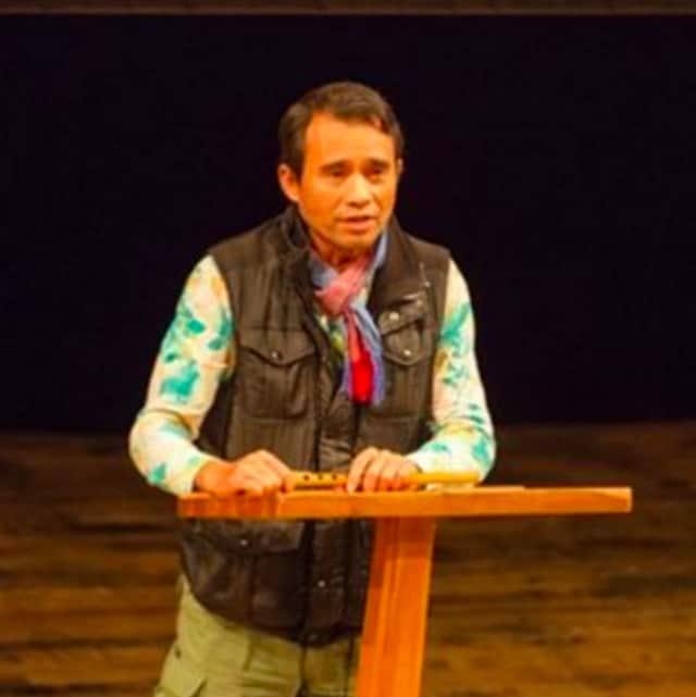 Arn Chorn-Pond speaking at the Millbrook School.