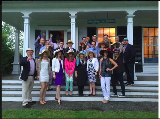 The Nichols Improvement Association in Trumbull recently hosted its second Kentucky Derby party.