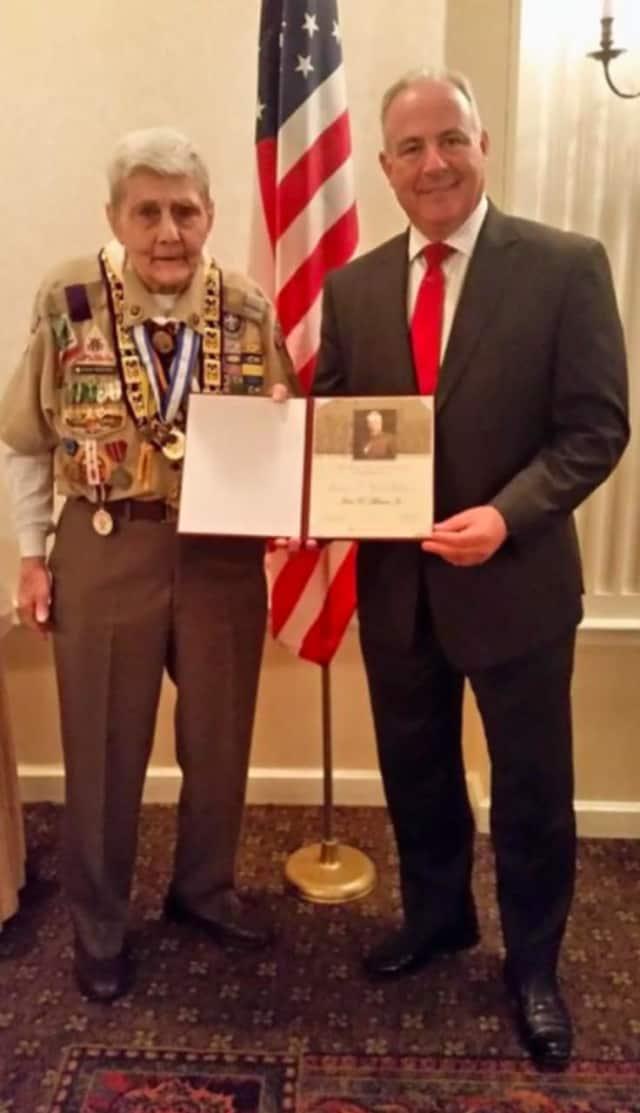 Former SBPD Sgt. John Musser, Jr. and Saddle Brook Mayor Robert White