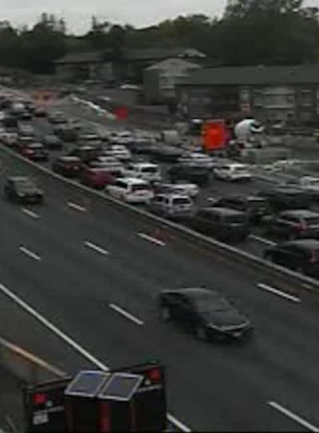 A look at delays on northbound I-87 in West Nyack Tuesday afternoon.