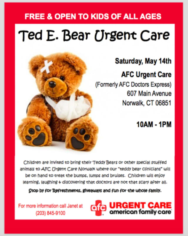 AFC Urgent Care Norwalk invites children to its office on Saturday, May 14.