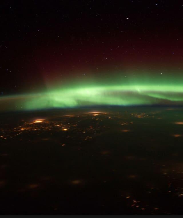 The Aurora Borealis, or Northern Lights.
