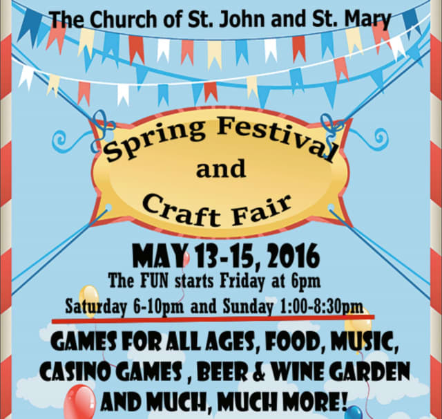 The Church of St. John & St. Mary, which is in Chappaqua, is holding a Spring Festival and Craft Fair.