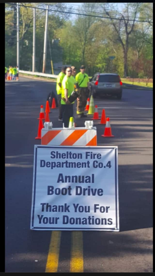 Shelton Volunteer Fire Company #4 Pine Rock Park conducted its annual Boot Drive on Saturday, May 14, at its headquarters at 722 Long Hill Ave.