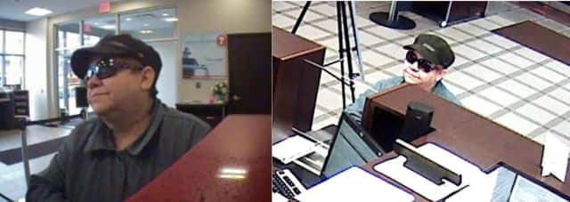 The Eastchester Police Department has released photos of the suspected bank bilker.