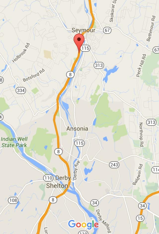 Route 8 south was closed in Seymour.