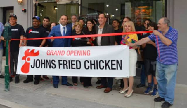 John's Fried Chicken's grand opening.