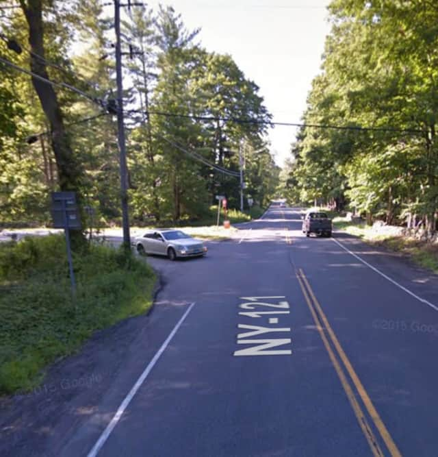 Route 121 and Pea Pond Road in Katonah.
