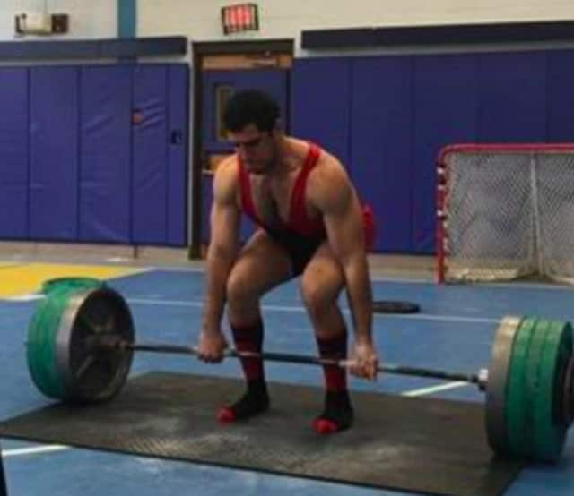 Moshe Klyman deadlifts at the Underground Training Powerlifting Competition.