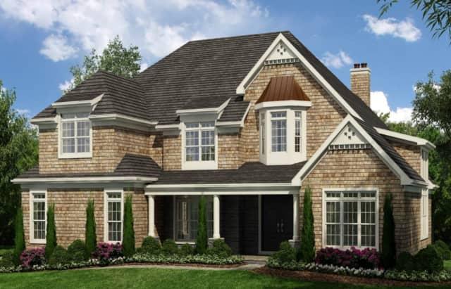 An artist's rendering of the homes proposed at 1 Flanders Lane and 5 Flanders Lane in Cortlandt Manor.