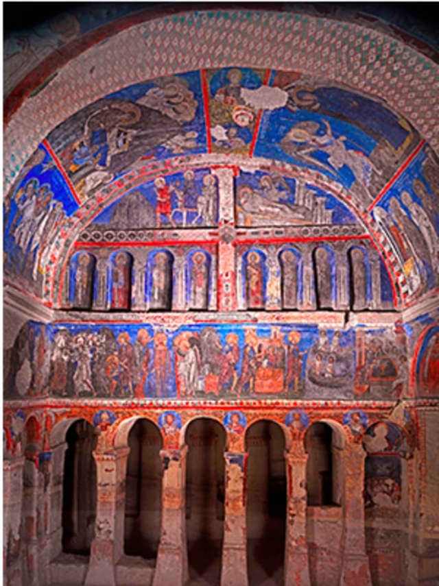 """""""Vaults Of Heaven: Visions Of Byzantium"""" is on display at Fairfield University."""