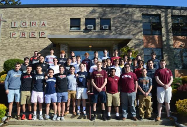 Students at Iona Prep wear shirts with their chosen colleges. A successful parent/teacher program covering bullying, high school readiness and other topics is offered by Iona Prep to other schools.