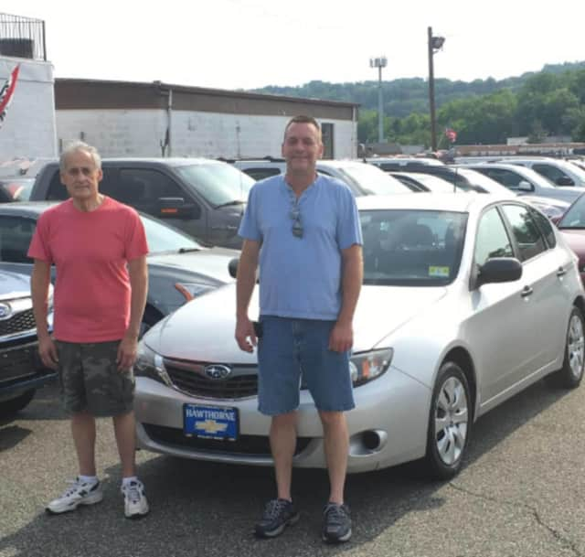 Harvey Zodkoy of Paterson with his Subaru Impreza.