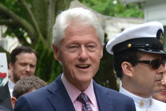 Former President Bill Clinton will be in Paramus Tuesday.