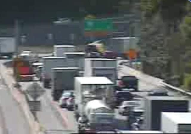 accident, on the Rye/Port Chester border, is on the west-bound side between I-95 (Exit 12) and Route 120A/Bowman Avenue (Exit 10).