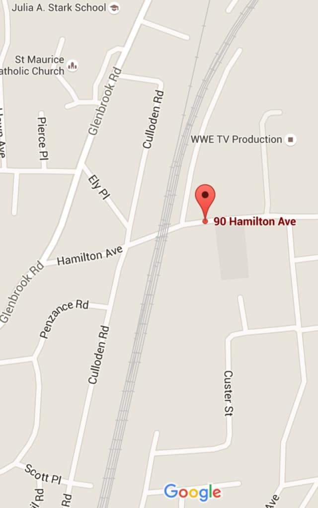 Hamilton Avenue in Stamford is closed Wednesday near the HQ of AmeriCares due to a car crash.
