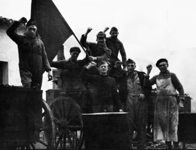 Members of the International Brigade during the Spanish Civil War. The Greenwich Retired Men's Association will host a lecture on the background to the Spanish Civil War on Wednesday.