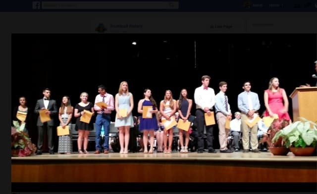 The Trumbull Rotary awarded $16,000 in scholarships to 13 Trumbull High School Seniors.