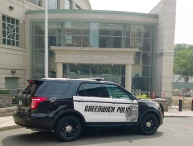 Greenwich Police arrested a Stamford man after he rammed his car into a tree.