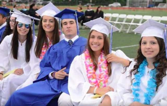These seniors were all smiles at a recent Fairfield Ludlowe High School graduation.