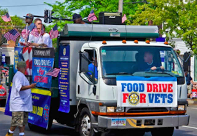 The Town of Fairfield and the Rotary Club are collecting food and funds for veterans through June 27.