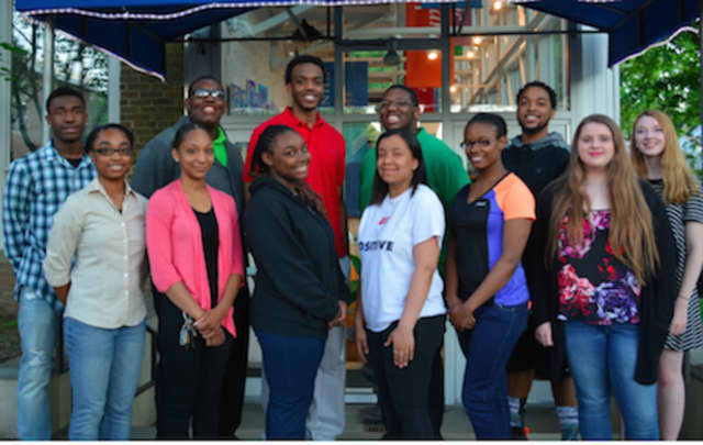 Taylor Hemphill, Alexis Askew, Nahjeera Miller, Toni Yarrell, L'Eashia Langley, Isabella Bardos and Clare Noelle King (front row), Davante Thomas, Cedric Thigpen, Donyae Carter-Smith, Christopher Thigpen, and David Daniel will compete in talent show.
