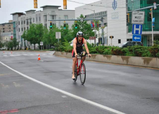 Triathletes will be riding and running through Stamford streets on Sunday morning. Motorists are advised to seek alternate routes.