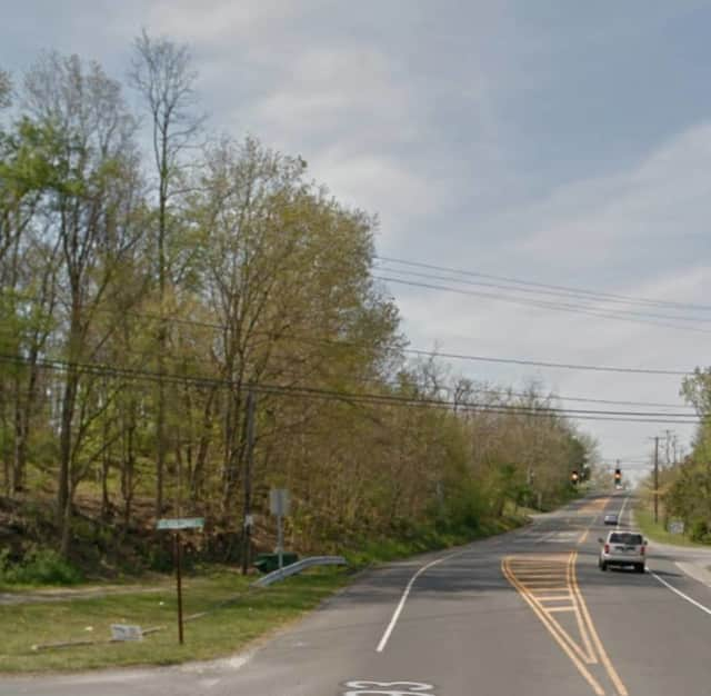 The intersection of Myers Corners Road and Old Myers Corners Road in Wappingers Falls.