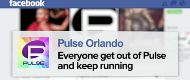 A posting on the Pulse Facebook page after the shooting broke out.