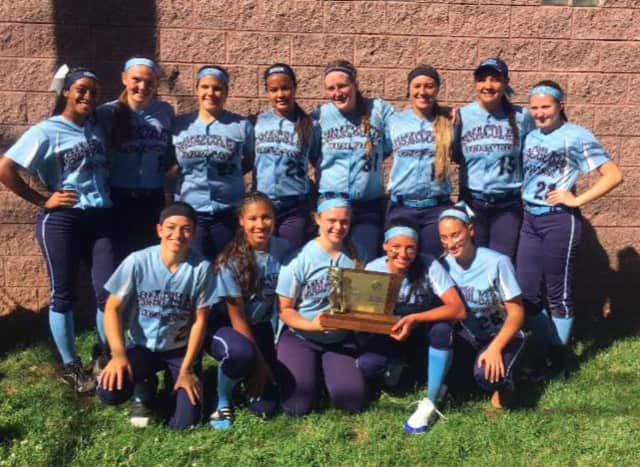 The softball team won its fourth straight Non-Public B softball title.