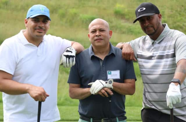 ANDRUS staff golfers, from left, Justin Baez, Rene Hernandez, and Chris Crooms took part in the tournament.